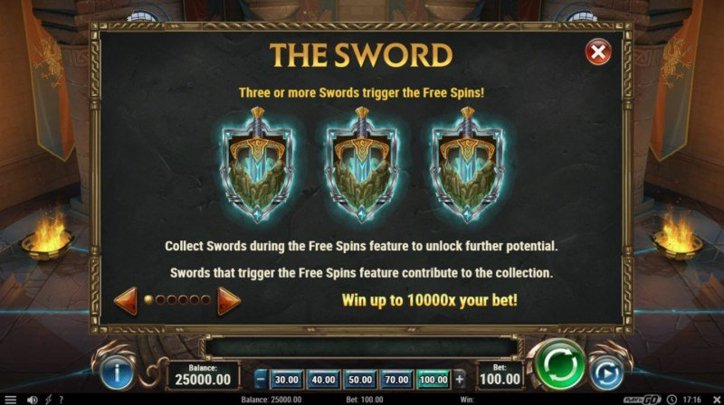 The Sword & The Grail :: Scatter Symbol Rules