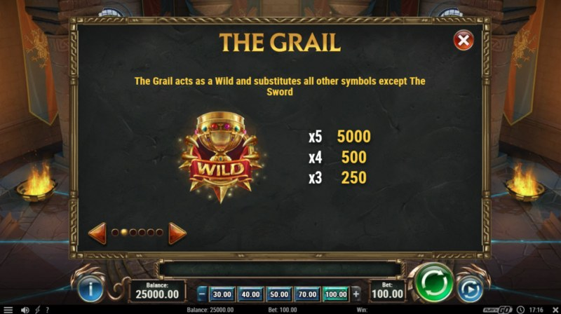 Play slots at Casiplay: Casiplay featuring the Video Slots The Sword & The Grail with a maximum payout of $1,000,000
