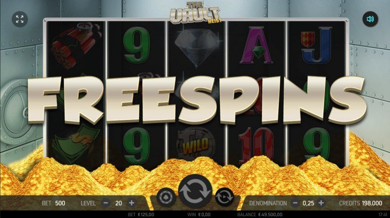 The Vault Heist :: Scatter symbols triggers the free spins feature