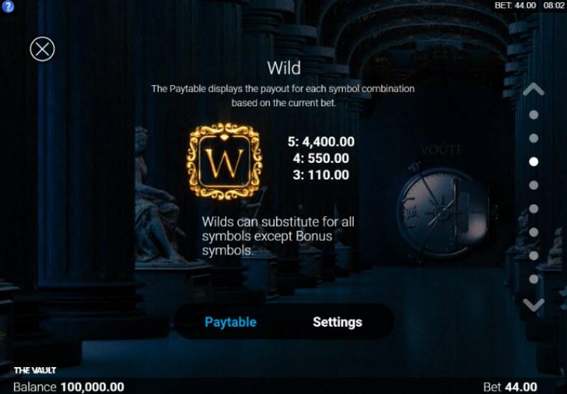 The Vault :: Wild Symbols Rules