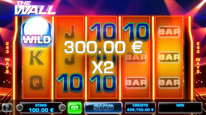 The Wall :: Free Spins Game Board