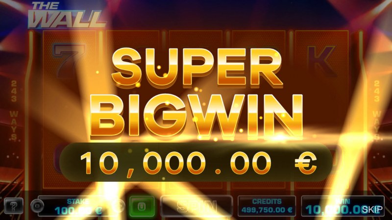 The Wall :: Total free spins payout