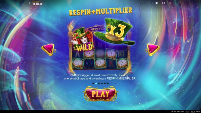 The Wild Hatter :: Respin and Multiplier