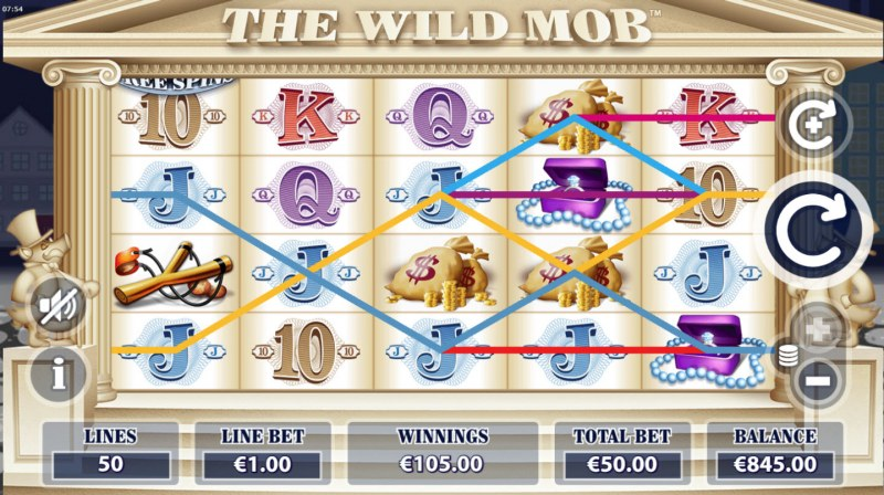 The Wild Mob :: Multiple winning combinations leads to a big win