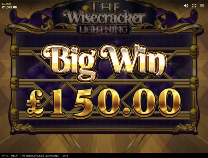 The Wisecracker Lightning :: Big Win