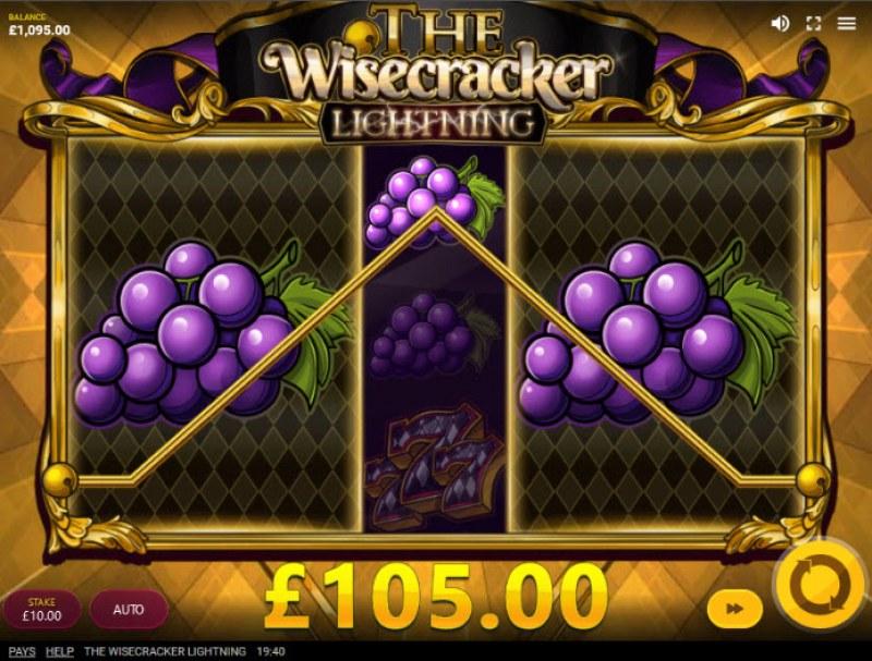 The Wisecracker Lightning :: Super Symbols trigger multiple winning paylines