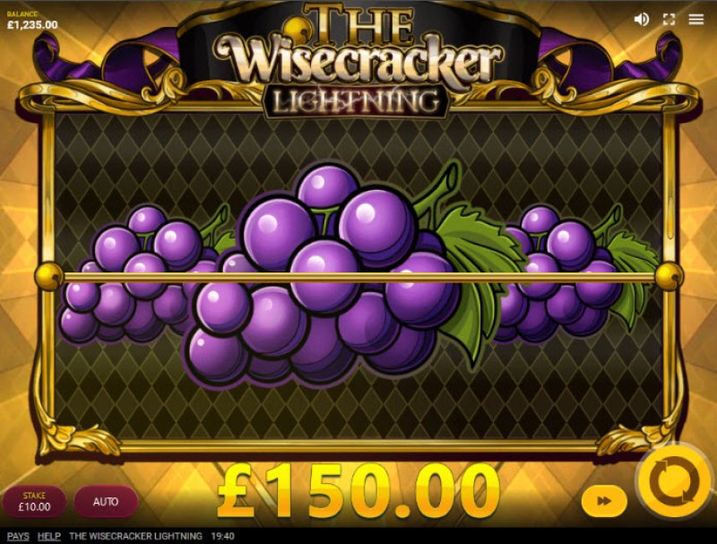 The Wisecracker Lightning :: Multiple winning paylines