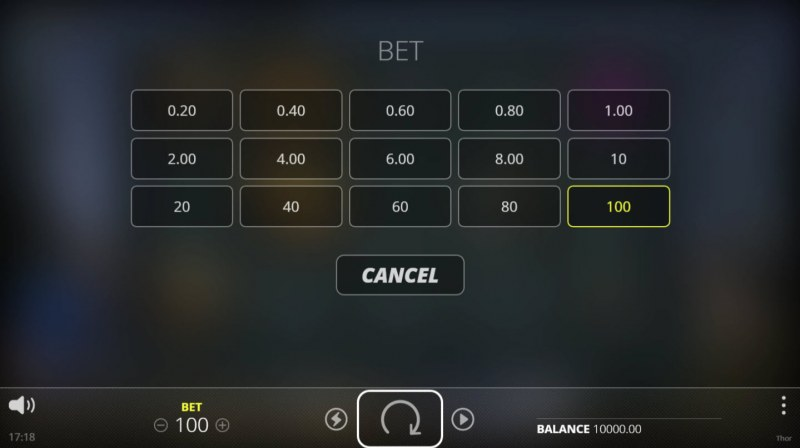 Thor Hammer Time :: Available Betting Options