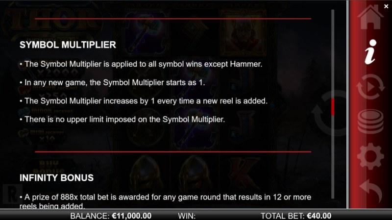 Thor Infinity Reels :: Symbol Multiplier