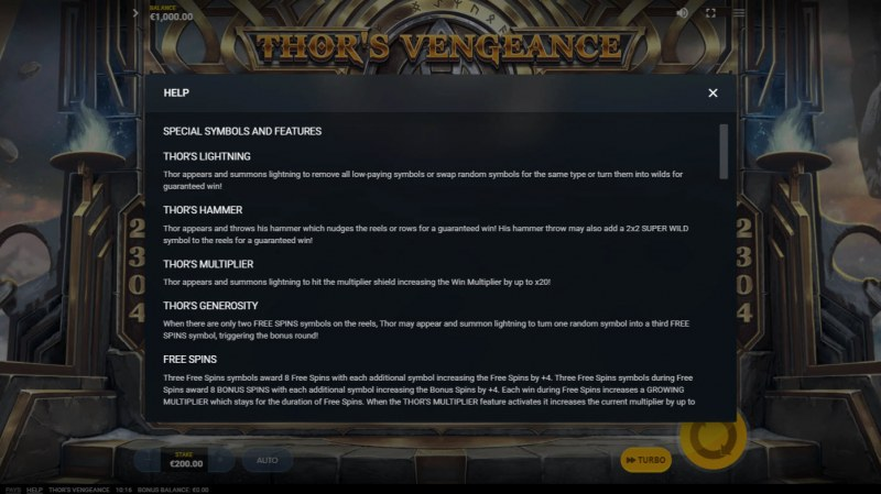 Thor's Vengeance :: Feature Rules