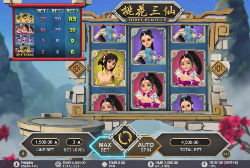 Three Beauties :: Main Game Board