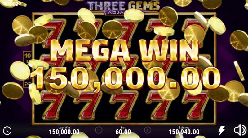 Three Gems Adjacent :: Mega Win