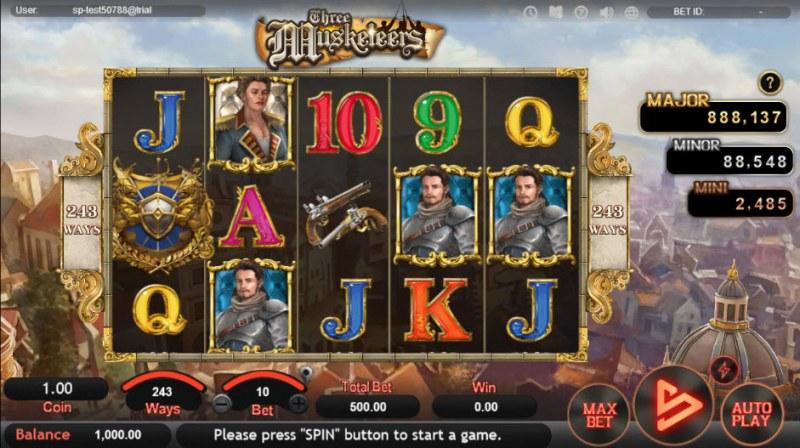 Three Musketeers :: Main Game Board