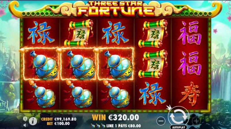 Three Star Fortune :: Multiple winning paylines