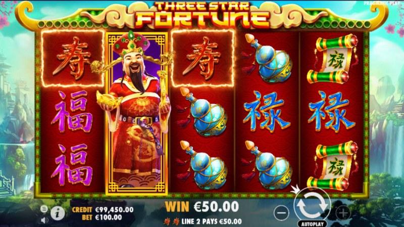 Three Star Fortune :: Three of a kind win