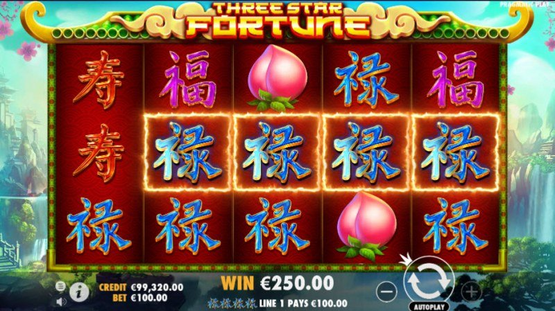 Three Star Fortune :: Game pays in both directions