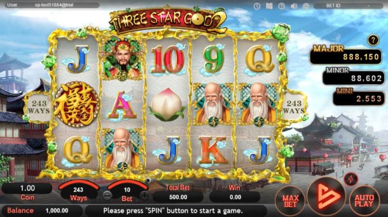 Three Star God 2 :: Main Game Board