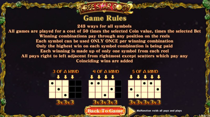 Three Star God 2 :: General Game Rules