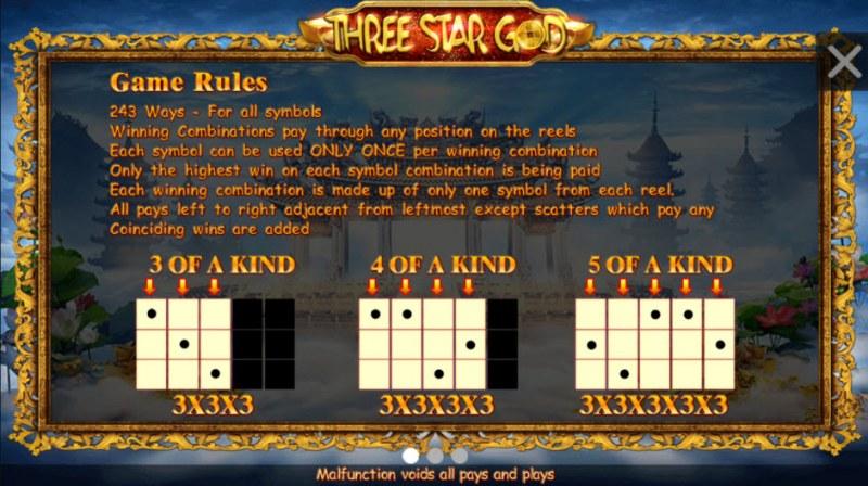 Three Star God :: General Game Rules