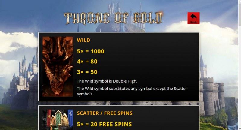 Throne of Gold :: Wild Symbols Rules