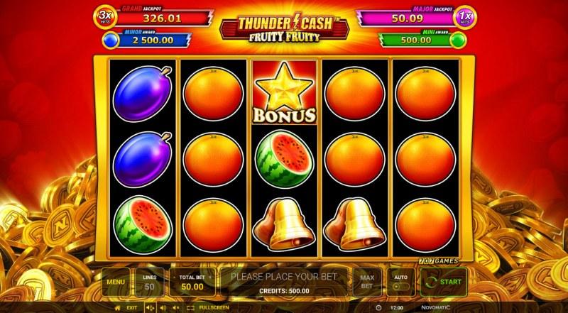 Thunder Cash Fruity Fruity :: Main Game Board