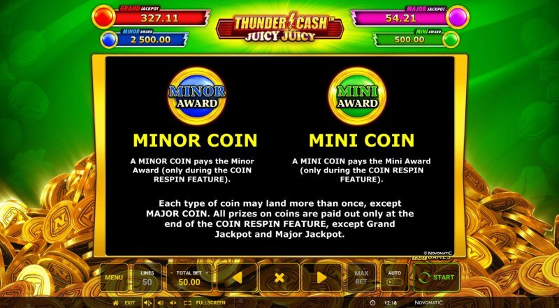 Thunder Cash Juicy Juicy :: Minor Coin and Mini Coin
