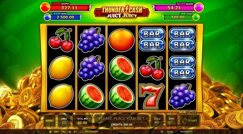Thunder Cash Juicy Juicy :: Main Game Board