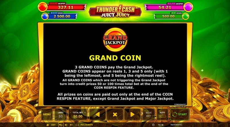 Thunder Cash Juicy Juicy :: Grand Coin
