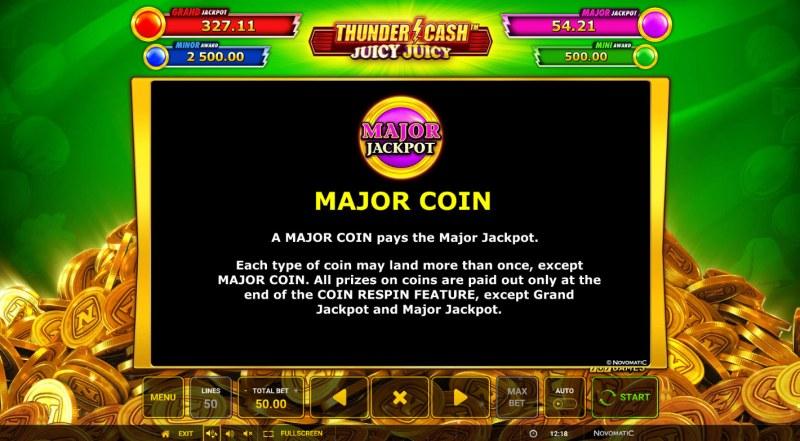 Thunder Cash Juicy Juicy :: Major Coin