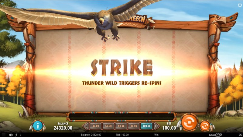 Thunder Screech :: Strike feature triggers randomly during any spin