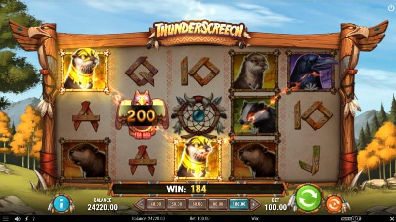 Thunder Screech :: A three of a kind win