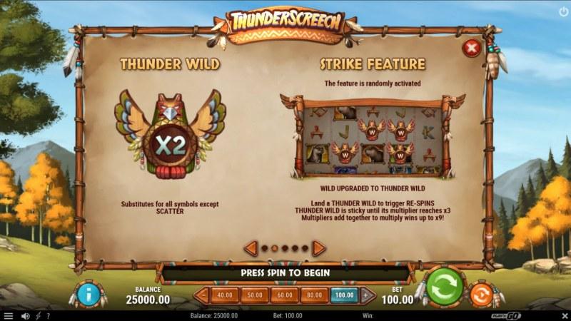 Thunder Screech :: Wild Symbol Rules
