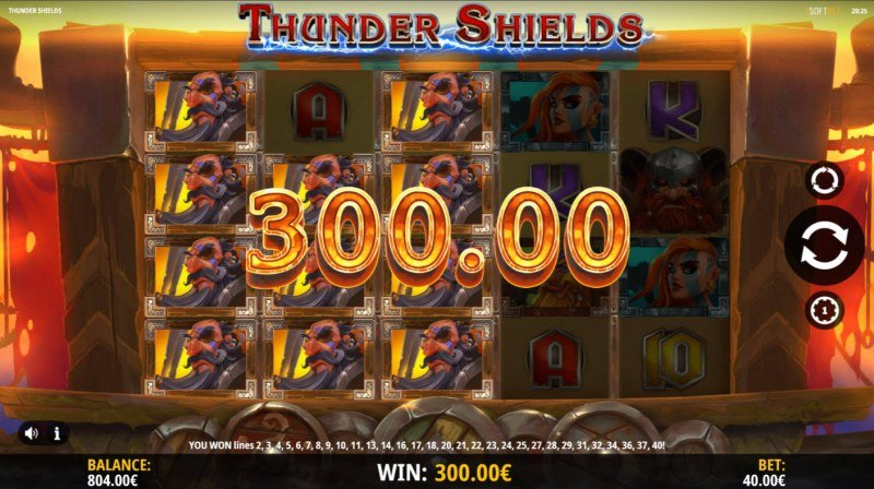 Thunder Shields :: Multiple winning combinations lead to a big win