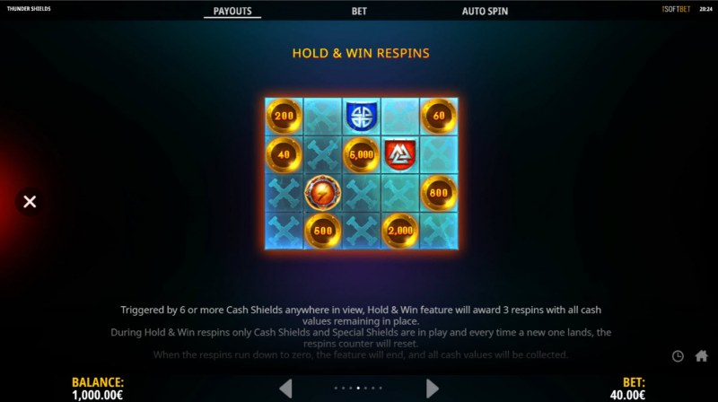 Thunder Shields :: Hold & Win Respins