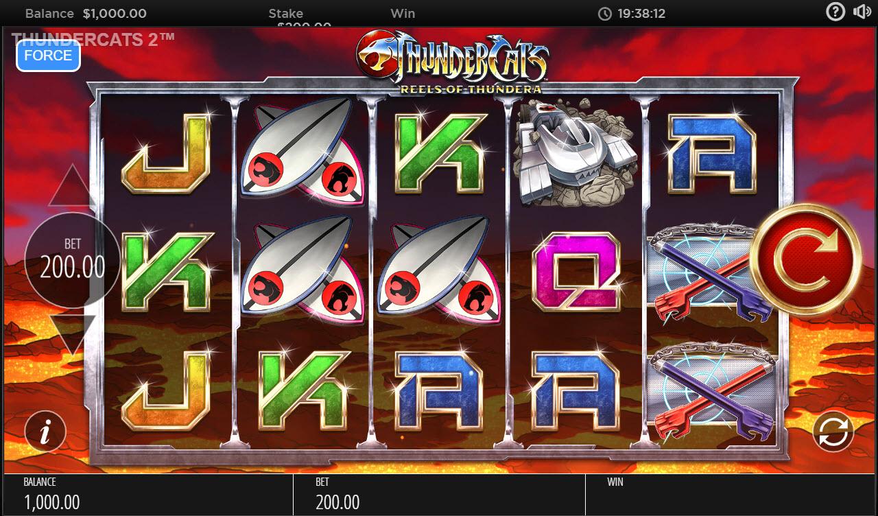 Play slots at Royal House: Royal House featuring the Video Slots Thundercats Reels of Thundera with a maximum payout of $250,000