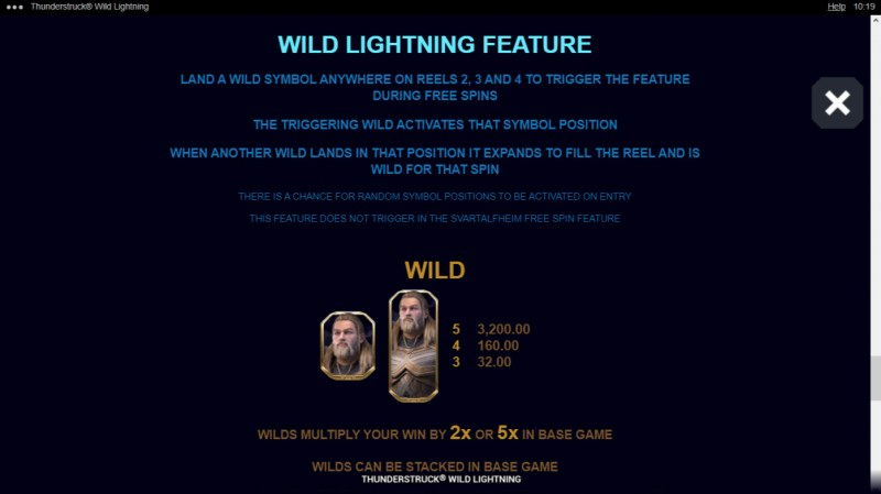 Thunderstruck Wild Lightning :: Wild Lightning Feature