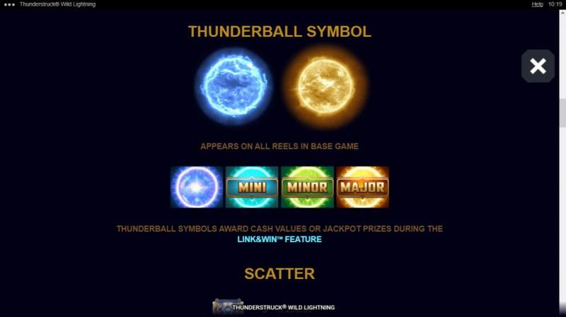 Thunderstruck Wild Lightning :: Thunderball Symbol