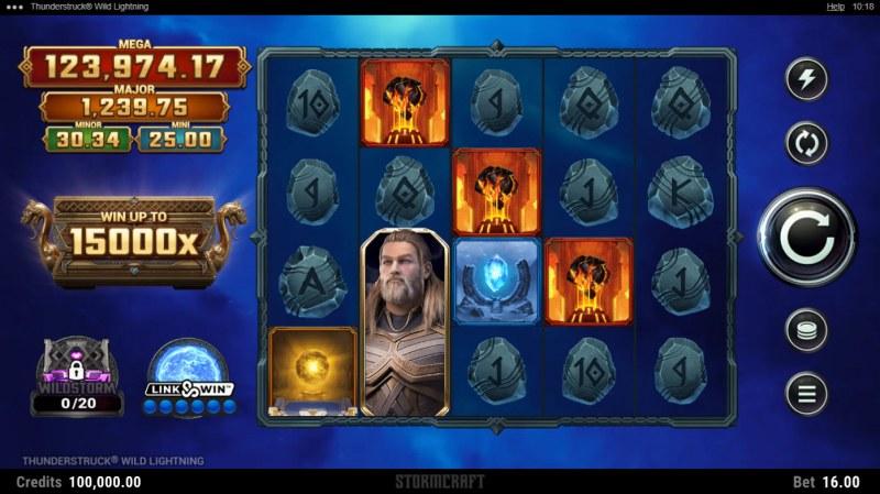 Thunderstruck Wild Lightning :: Base Game Screen