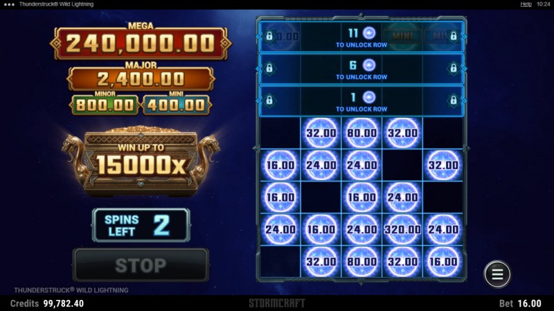 Thunderstruck Wild Lightning :: Land thunderball symbols to win cash prizes and extend game play