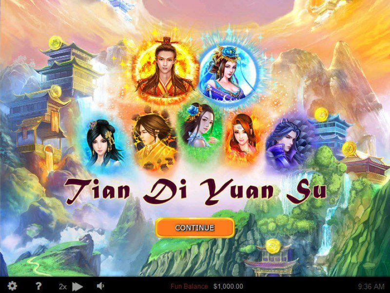 Play slots at Prima Play: Prima Play featuring the Video Slots Tian Di Yuan Su with a maximum payout of $250,000