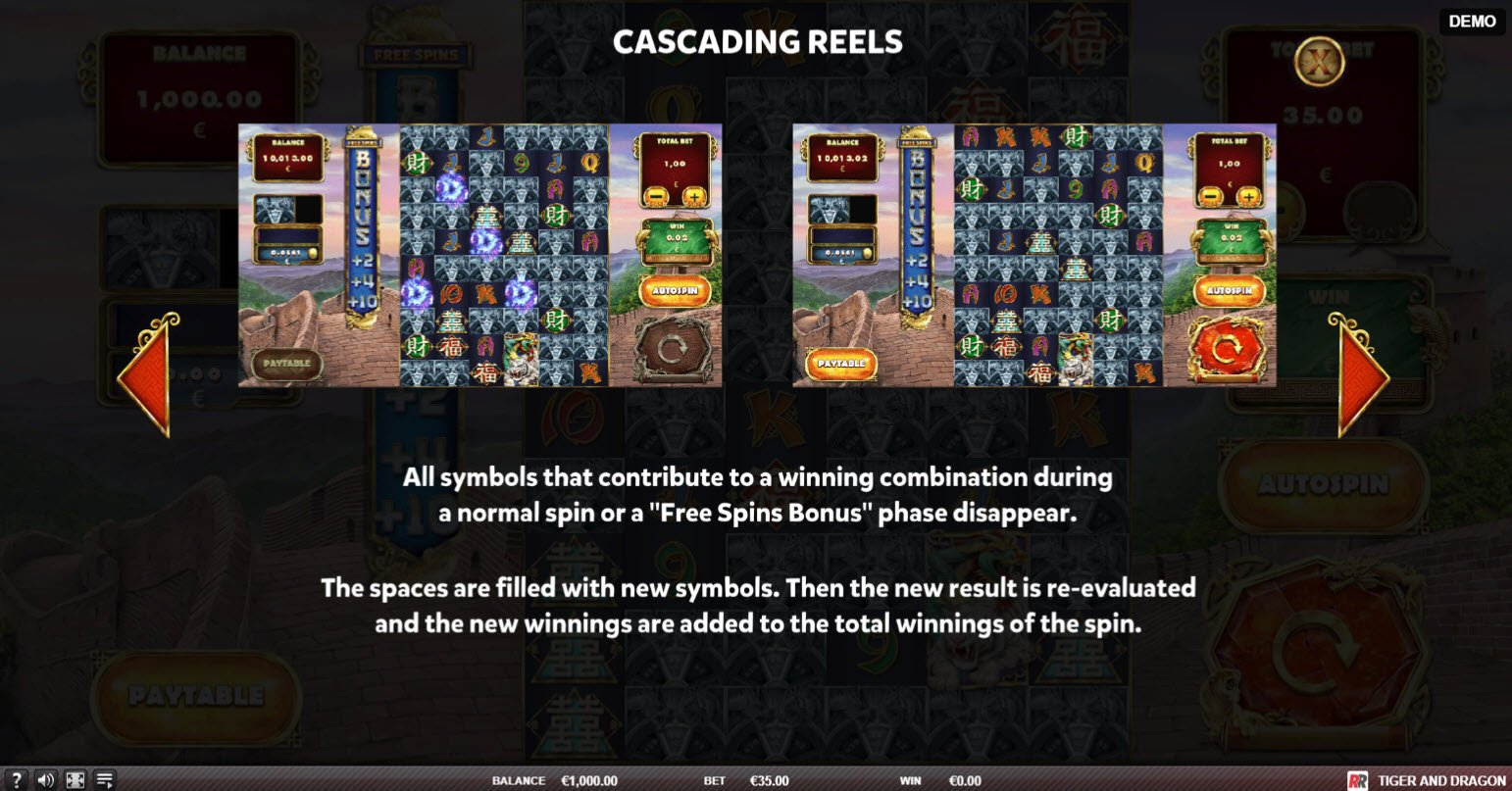 Tiger and Dragon :: Cascading Reels