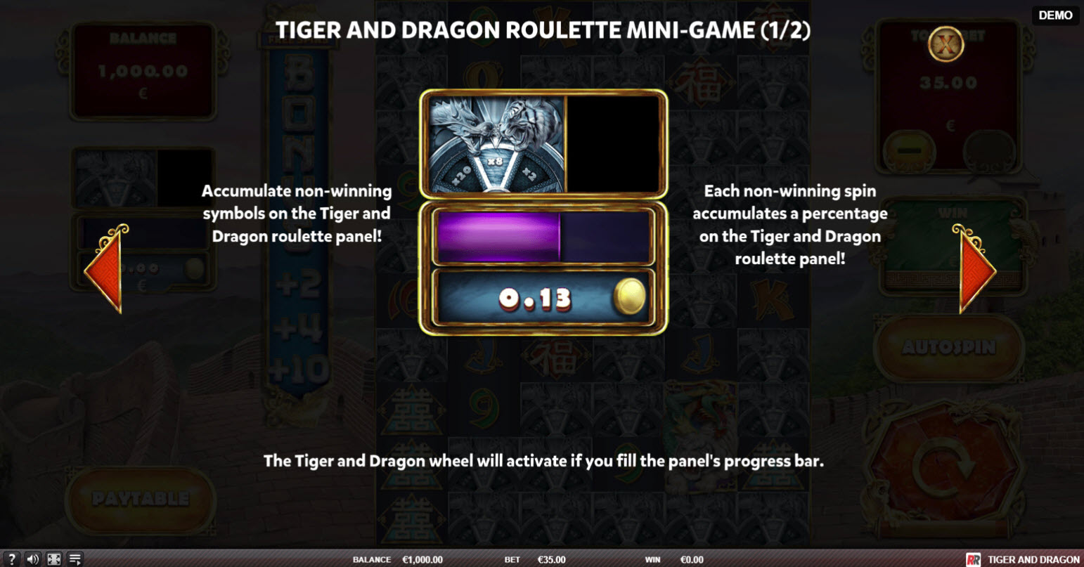 Tiger and Dragon :: Feature Rules