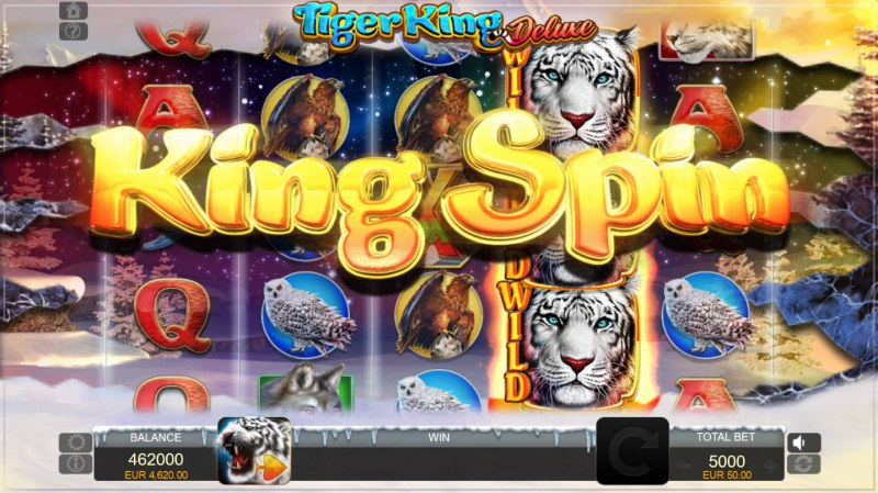 Tiger King Deluxe :: King Spin feature triggered