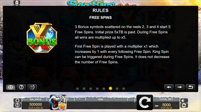 Tiger King Deluxe :: Free Spins Rules