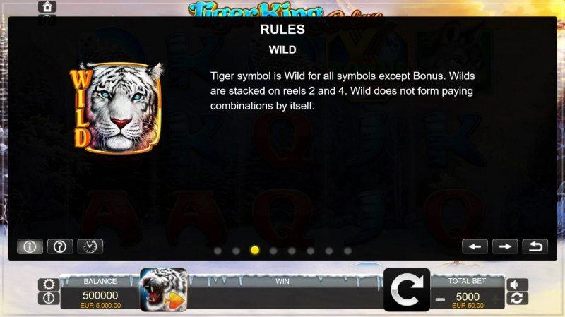 Tiger King Deluxe :: Wild Symbols Rules