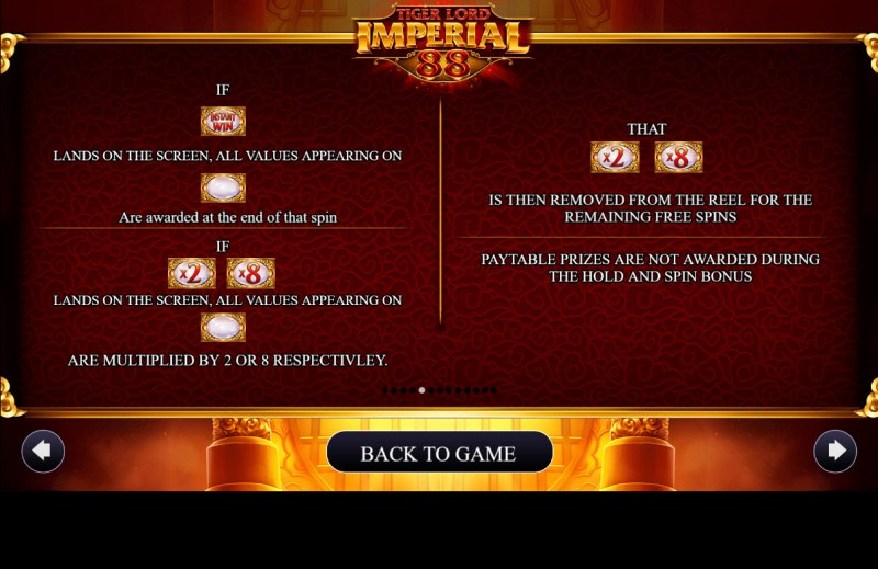 Tiger Lord Imperial 88 :: Hold and Spin Feature