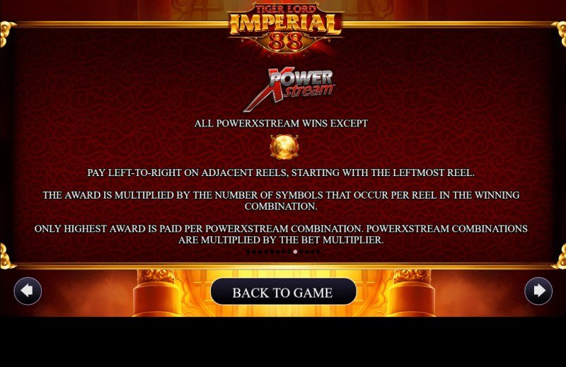 Tiger Lord Imperial 88 :: Feature Rules