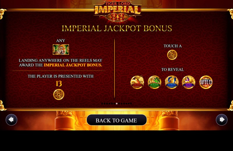 Tiger Lord Imperial 88 :: Jackpot Rules