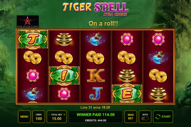 Tiger Spell Xtra Choice :: Multiple winning paylines