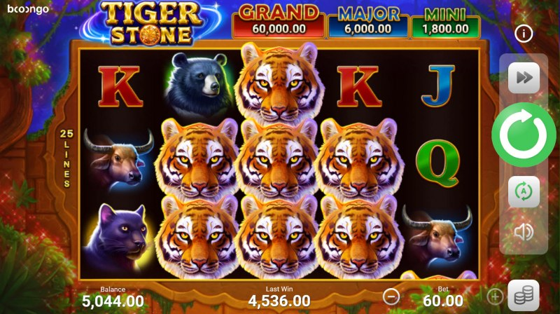 Tiger Stone :: Multiple winning combinations lead to a big win